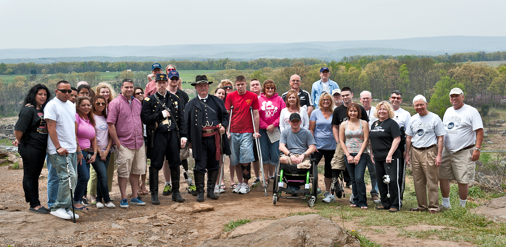Wounded Warrior tour at Little Round Top