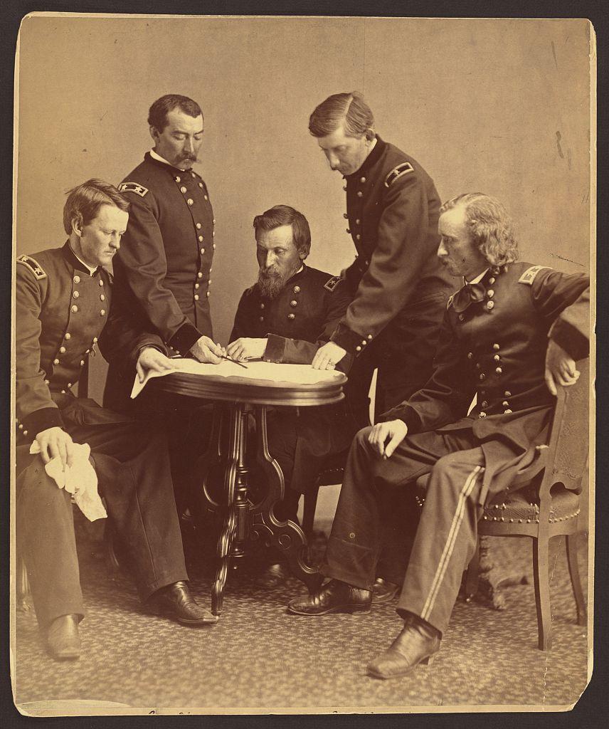Sheridan and his generals.