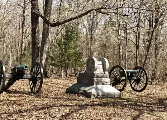 Image of cannons at Shiloh